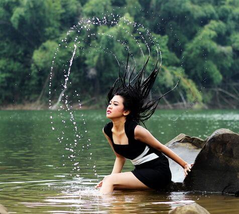 A hajmosás menete hajhullás esetén(is)