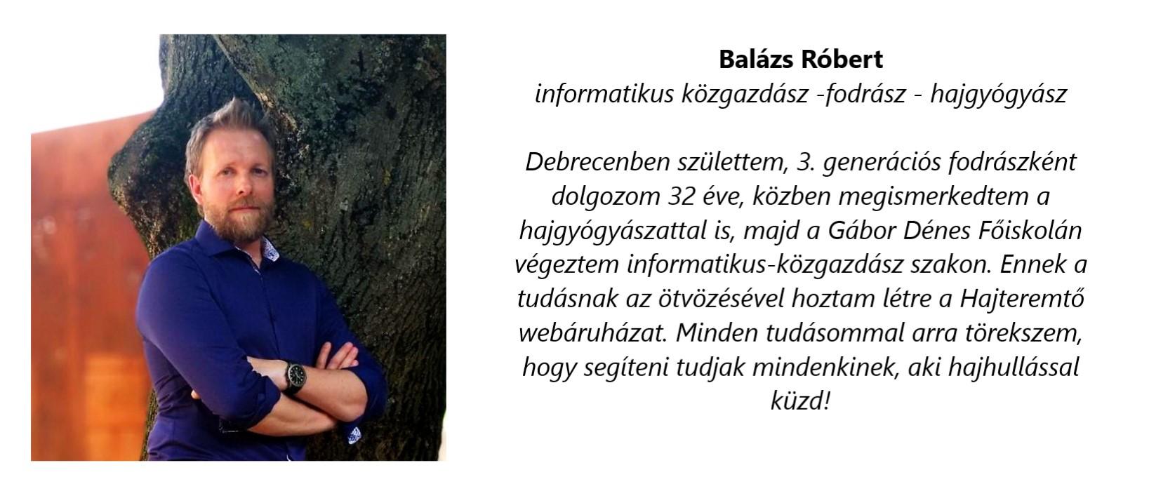 Hajteremtő - Balázs Róbert